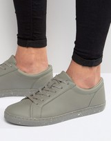 Asos Sneakers in Gray With Speckle Print Sole