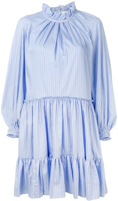 3.1 Phillip Lim Striped Long-Sleeve Dress