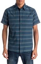 Quiksilver Men's St. Vincent Stripe Short Sleeve Sport Shirt