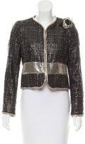 Versace Coated Tweed Blazer