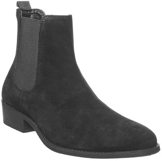 Office Brady Western Boots Black Suede