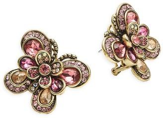 Heidi Daus Rhinestone Butterfly Stud Earrings
