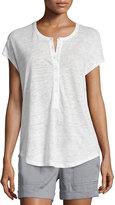 Vince Short-Sleeve Henley Cocoon Shirt