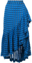 Ulla Johnson checked ruffled skirt