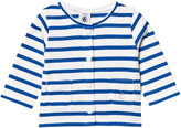 Petit Bateau Blue and White Stripe Cardigan
