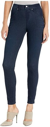 Hue High-Waist Ultra Soft Denim Leggings (Black/Indigo Wash) Women's Jeans