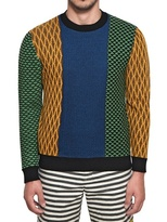 Opening Ceremony Patchwork Merino Wool Knit Sweater
