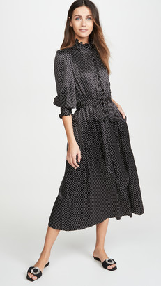 Marc Jacobs Dress With Ruffle At Collar & Cuffs