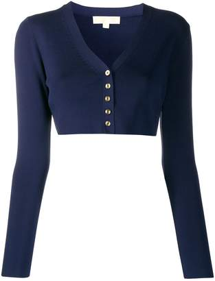 Michael Kors Ribbed Buttoned Cardigan