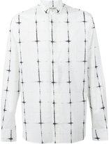 Saint Laurent cross detail button-up shirt - men - Cotton - 38