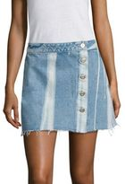 3x1 Higher Ground Distressed Mini Skirt
