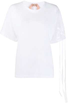 No.21 bow sleeve T-shirt