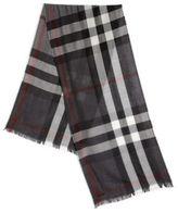 Burberry Merino Wool & Cashmere Check Scarf