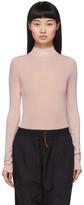 Heron Preston Pink Style Turtleneck Bodysuit