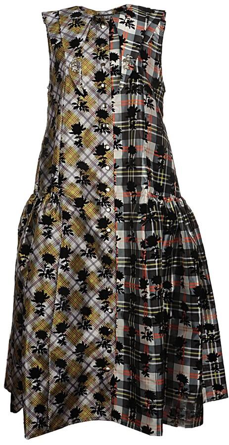 Thumbnail for your product : Chopova Lowena Patchwork Sleeveless Midi Dress