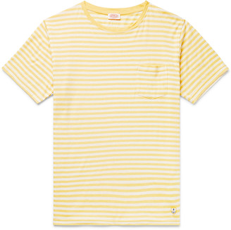 Armor Lux Striped Slub Cotton And Linen-Blend T-Shirt