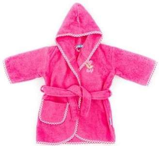 Camilla And Marc Tiseco Lief Uni Baby Bathrobe for Girl, 0-12 Months, Cotton, Red, 30 x 30 x 30 cm