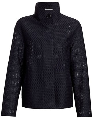 Akris Punto Dot Lace Stand Collar Jacket
