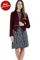 Select Fashion Fashion Womens Red Dip Hem Zip Blazer - size 6