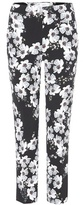 Erdem Gianna Printed Crêpe Cropped Trousers