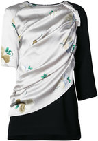 Loewe ruched top with front wrap print