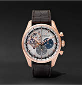 Zenith El Primero Chronomaster 42mm 1969 Rose Gold And Alligator Watch - Silver