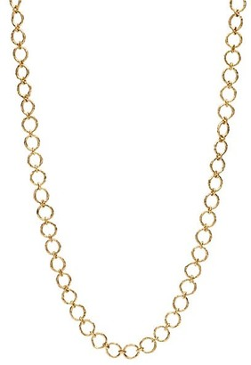 """Katy Briscoe Cappy 18K Yellow Gold Small-Link Necklace/32"""""""