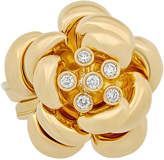 575 Denim Estate 18K Yellow Gold Diamond Flower Ring, Size
