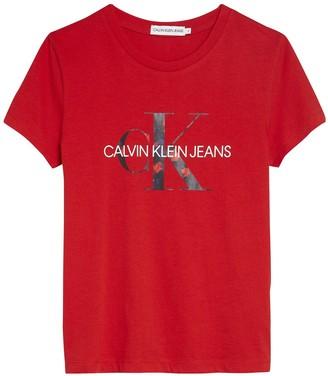 Calvin Klein Jeans Girls Short Sleeve Monogram T-shirt