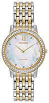 Citizen Women's Silhouette Swarovski Crystal Eco-Drive Bracelet Strap Watch