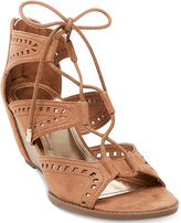 Madden-Girl Rally Perforated Wedge Sandals