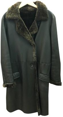 Jil Sander Brown Leather Coat for Women