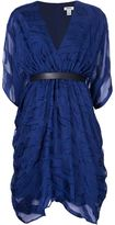 Issa belted v-neck dress - women - Silk/Polyester/Viscose - 4