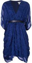 Issa belted v-neck dress - women - Viscose/Silk/Polyester - 4