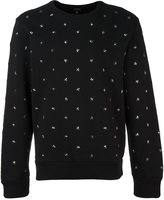 Diesel star stud sweatshirt - men - Cotton - S