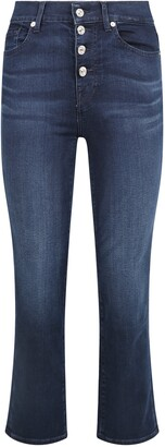 7 For All Mankind Faded Cropped Jeans