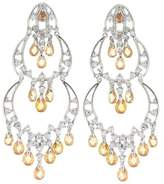 "Alljoy ""Uplifting"" Chandelier Earrings w/ & White CZs"