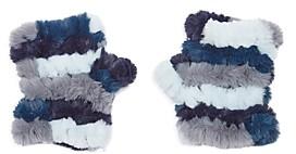 Jocelyn Mandy Color Blocked Faux Fur Knit Mittens