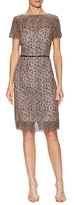 Carolina Herrera Lace Midi Sheath Dress