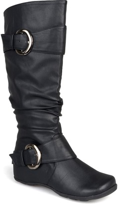 Journee Collection Paris Buckle Mid-Calf Boot - Wide Calf
