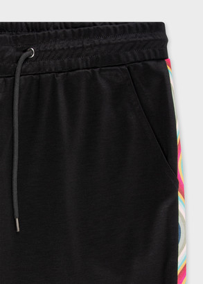 Paul Smith Women's Black Cotton-Blend Sweatpants With 'Swirl' Trim