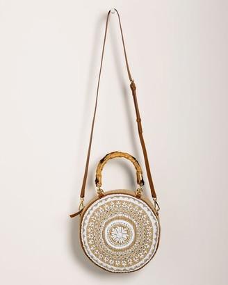 Chico's Faux-Shell Crossbody Circle Bag