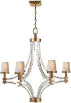 Visual Comfort & Co. Crystal Chandelier, Antiqued Brass