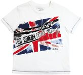 John Galliano Flag Printed Cotton Jersey T-Shirt
