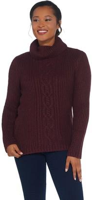 G.I.L.I. Got It Love It G.I.L.I. Cable Knit Turtle Neck Sweater