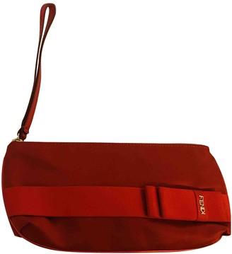 Fendi Red Silk Clutch bags