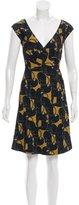 Marc Jacobs Jaguar Print Wrap Dress