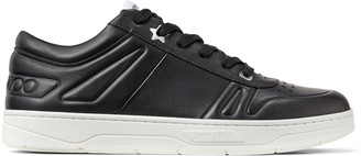 Jimmy Choo HAWAII/M Black Calf Leather Lace-Up Trainers