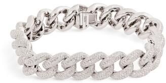 Shay White Gold and Diamond Jumbo Pave Link Bracelet