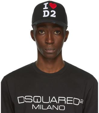 DSQUARED2 Black I Heart D2 Baseball Cap